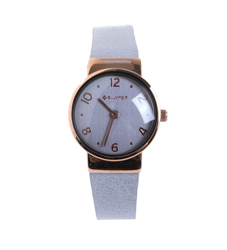 Comprar Bilyfer Mini montre bracelet cuir intégré Cuivre