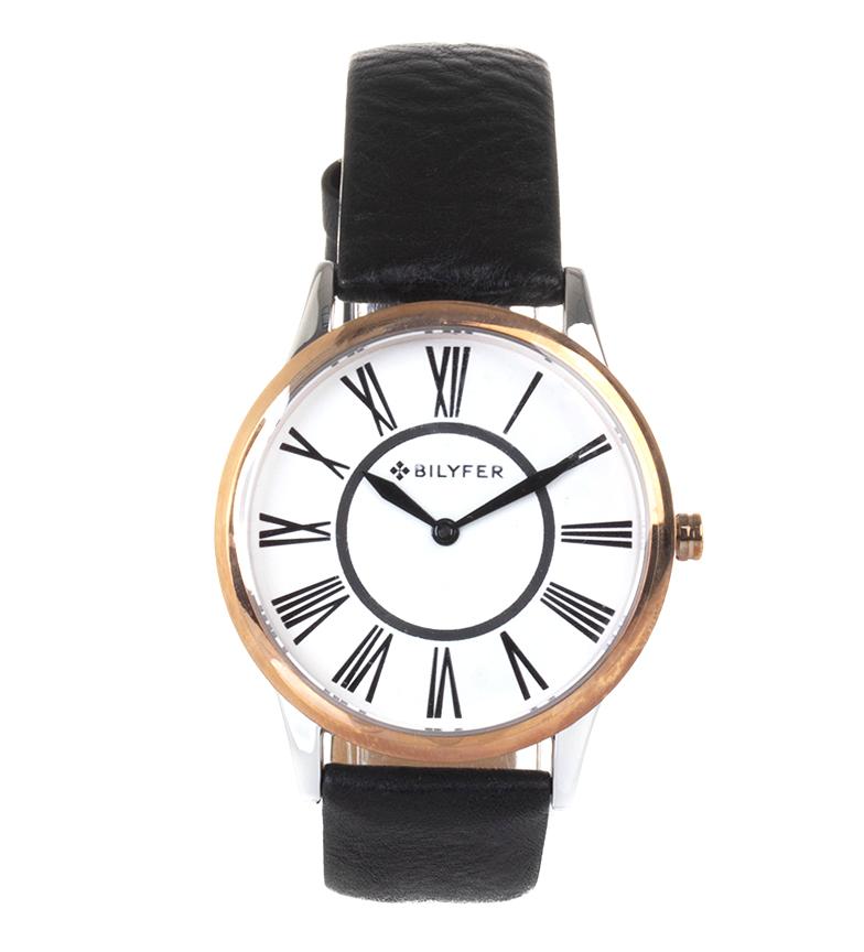 Comprar Bilyfer Reloj analógico de piel 1F623  negro, bronce