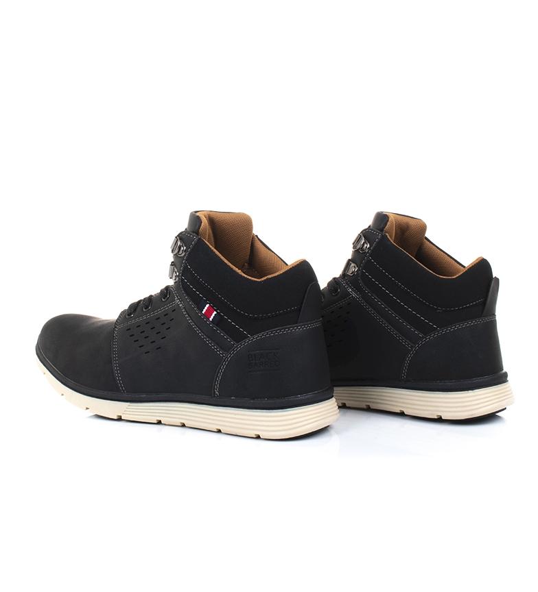 Black-Barred-Botas-Axel-II-camel-Hombre-chico-Marron-Amarillo-Negro-Plano miniatura 20