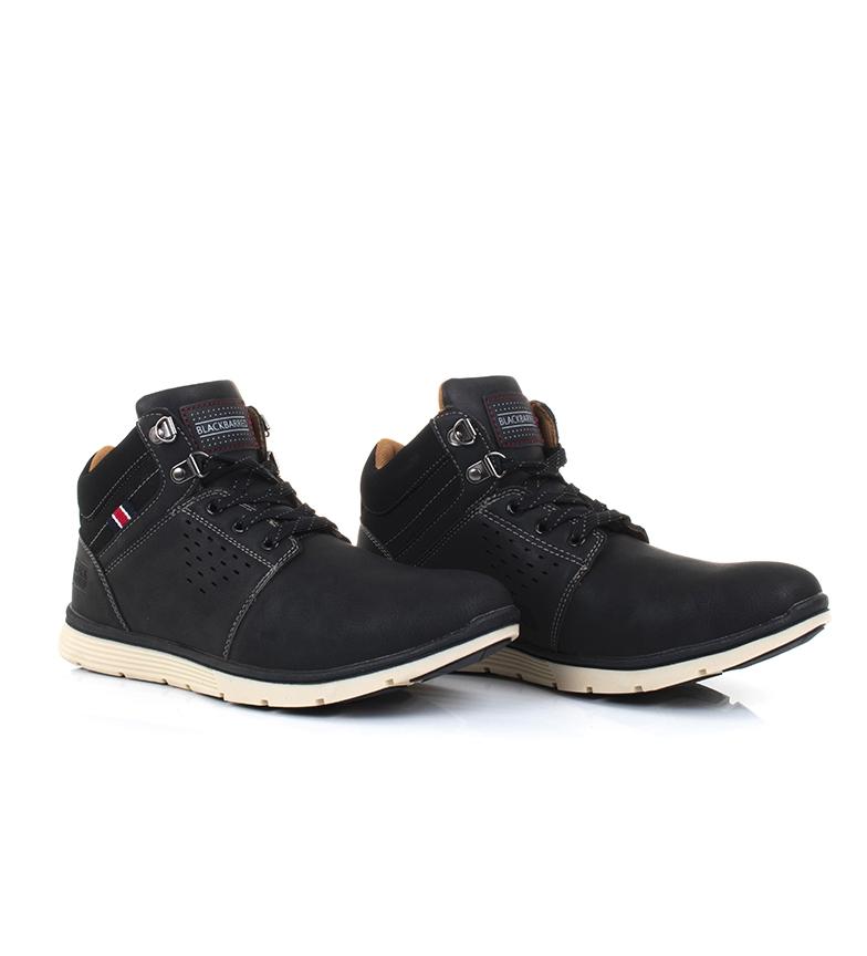 Black-Barred-Botas-Axel-II-camel-Hombre-chico-Marron-Amarillo-Negro-Plano miniatura 21