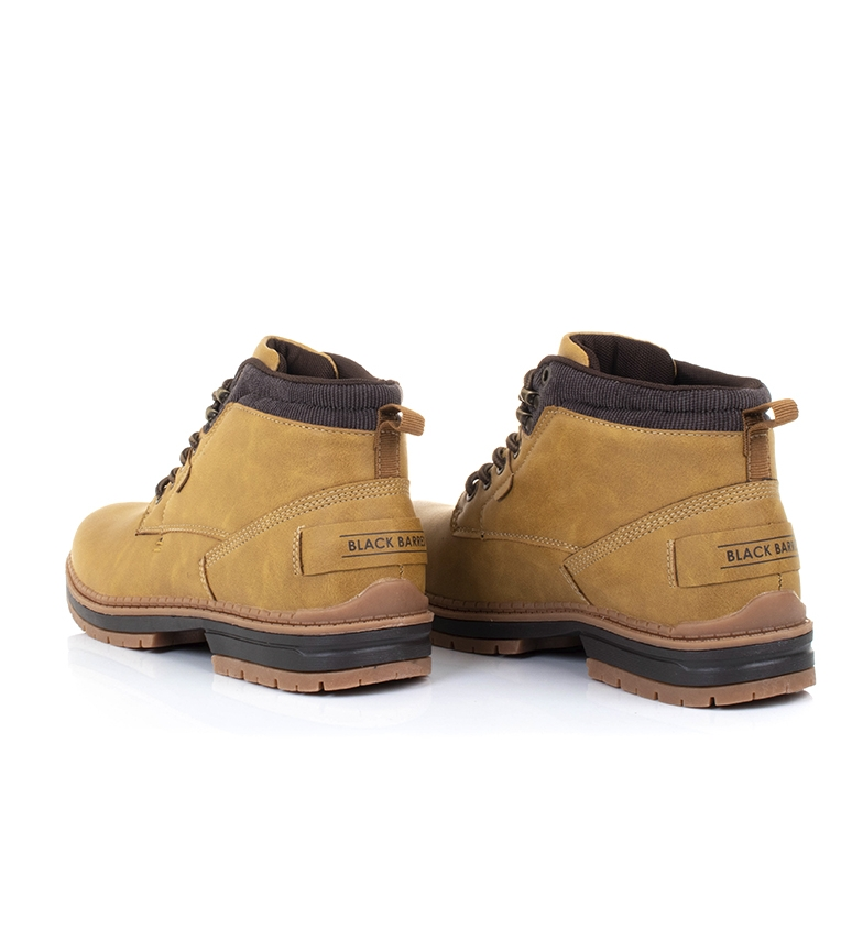 Black-Barred-Botas-Forest-camel-Hombre-chico-Marron-Amarillo-Negro-Tela miniatura 6