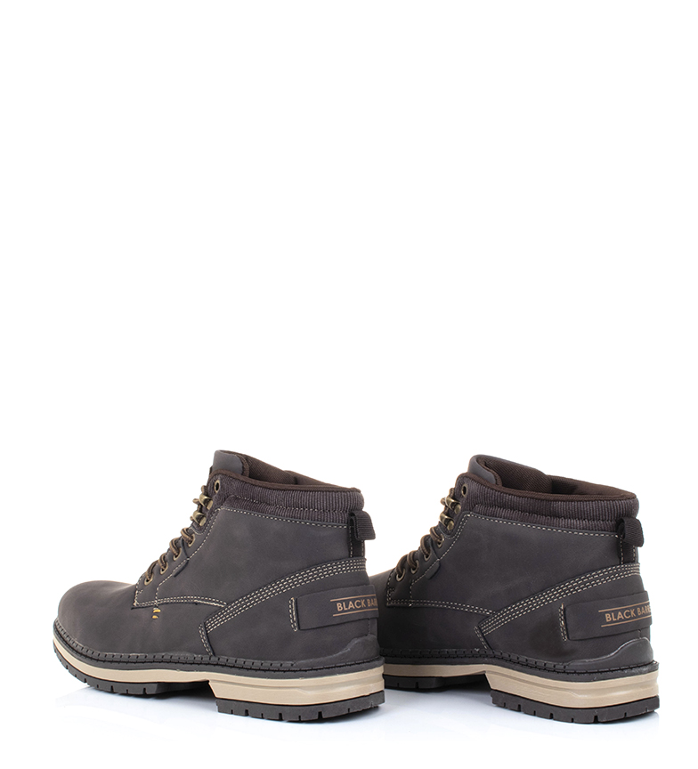 Black-Barred-Botas-Forest-camel-Hombre-chico-Marron-Amarillo-Negro-Tela miniatura 14
