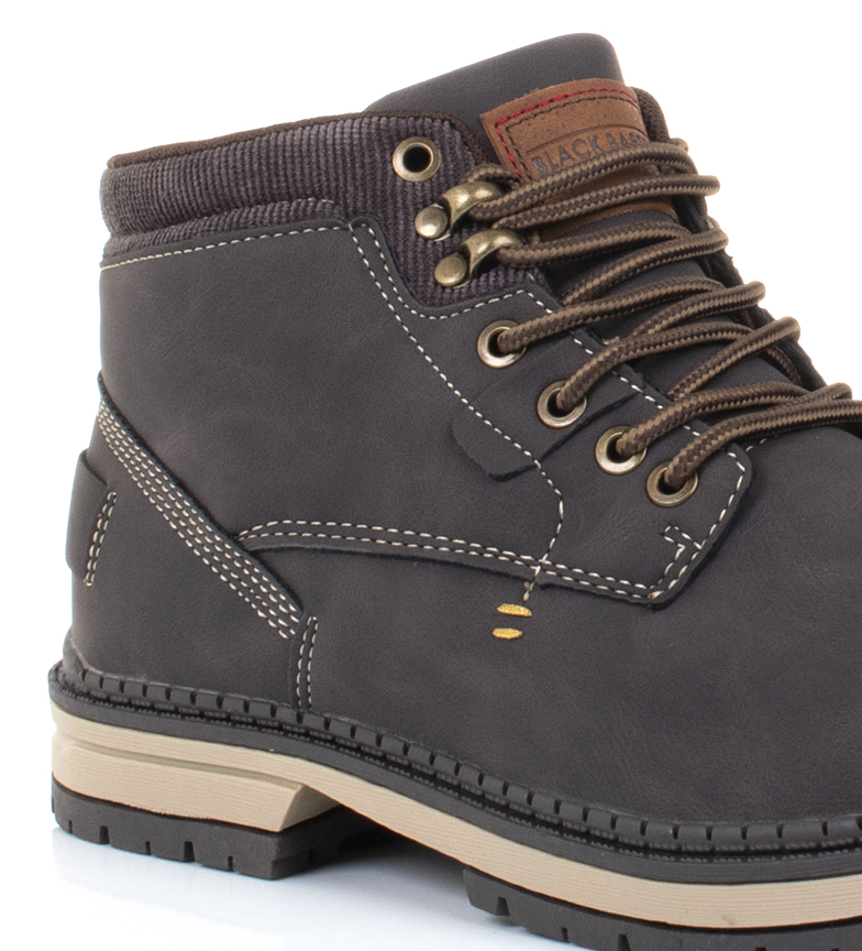 Black-Barred-Botas-Forest-camel-Hombre-chico-Marron-Amarillo-Negro-Tela miniatura 17