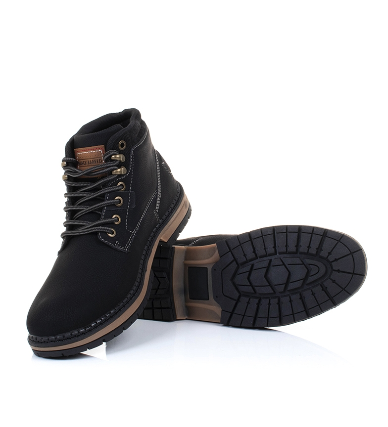 Black-Barred-Botas-Forest-camel-Hombre-chico-Marron-Amarillo-Negro-Tela miniatura 21