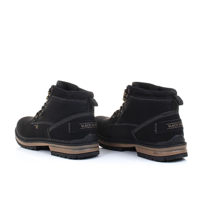 Black-Barred-Botas-Forest-camel-Hombre-chico-Marron-Amarillo-Negro-Tela miniatura 22