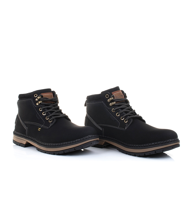 Black-Barred-Botas-Forest-camel-Hombre-chico-Marron-Amarillo-Negro-Tela miniatura 24