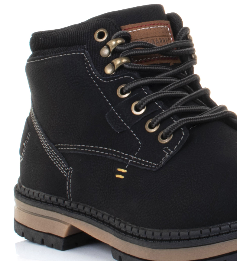 Black-Barred-Botas-Forest-camel-Hombre-chico-Marron-Amarillo-Negro-Tela miniatura 25