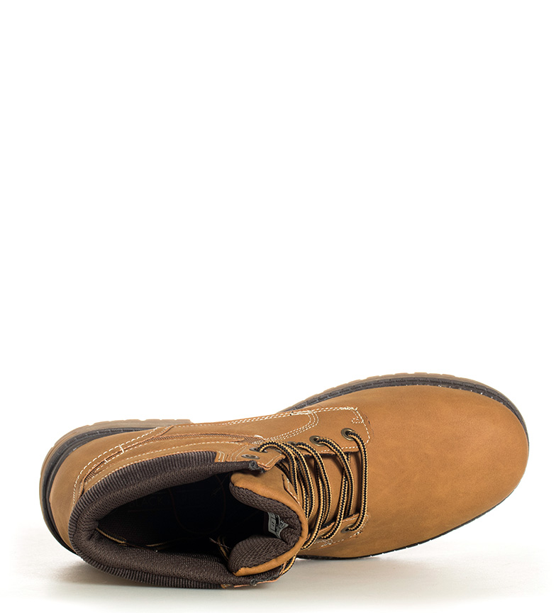 Black-Barred-Botines-Panama-Hombre-chico-Marron-Negro-Plano-Cordones-Casual