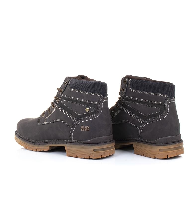 Black-Barred-Bottes-Panama-Jaune-Homme-Marron-Noir-Tissu-Synthetique-Plat miniature 12