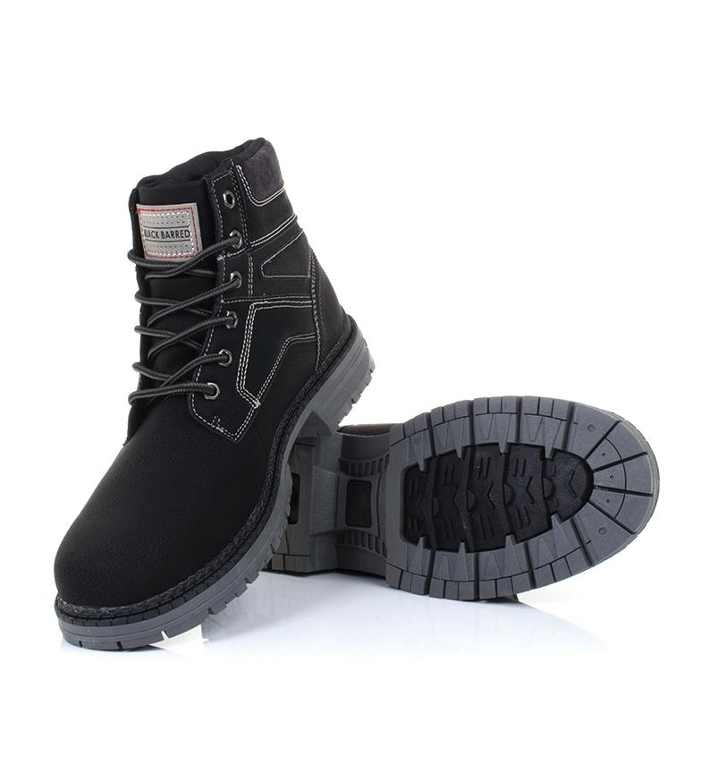 Black-Barred-Bottes-Panama-Jaune-Homme-Marron-Noir-Tissu-Synthetique-Plat miniature 16