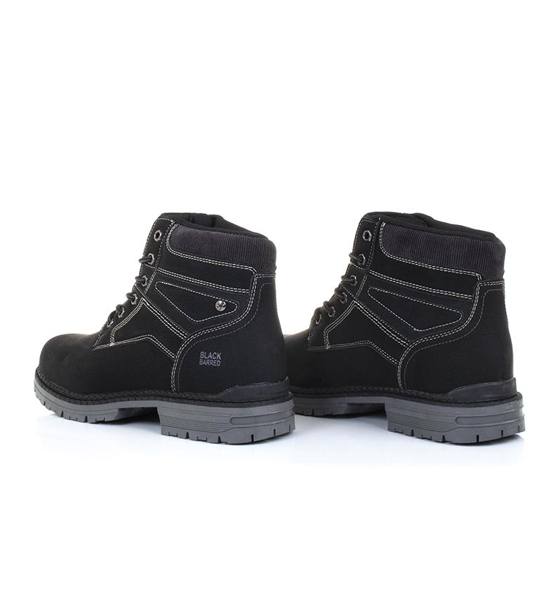 Black-Barred-Bottes-Panama-Jaune-Homme-Marron-Noir-Tissu-Synthetique-Plat miniature 18