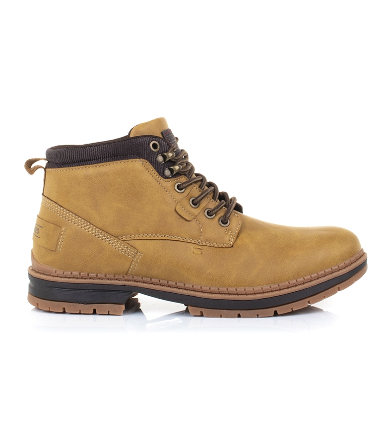 Black-Barred-Botas-Forest-camel-Hombre-chico-Marron-Amarillo-Negro-Tela miniatura 3