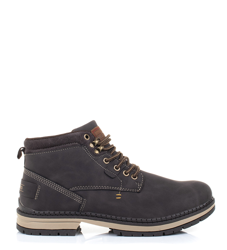 Black-Barred-Botas-Forest-camel-Hombre-chico-Marron-Amarillo-Negro-Tela miniatura 11