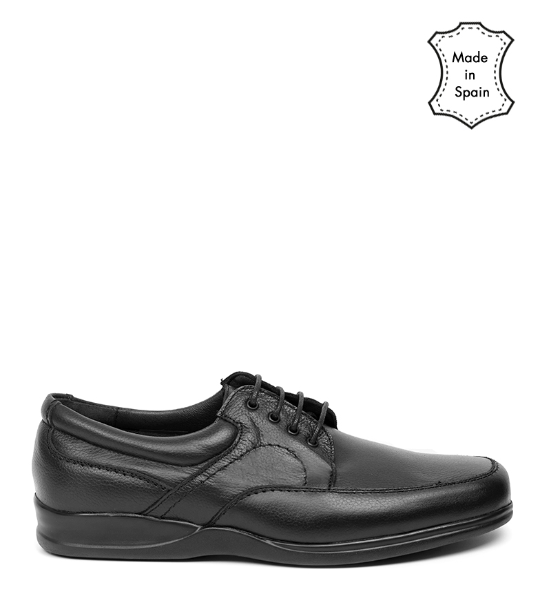 Comprar Black Barred Confort Debby chaussures en cuir noir