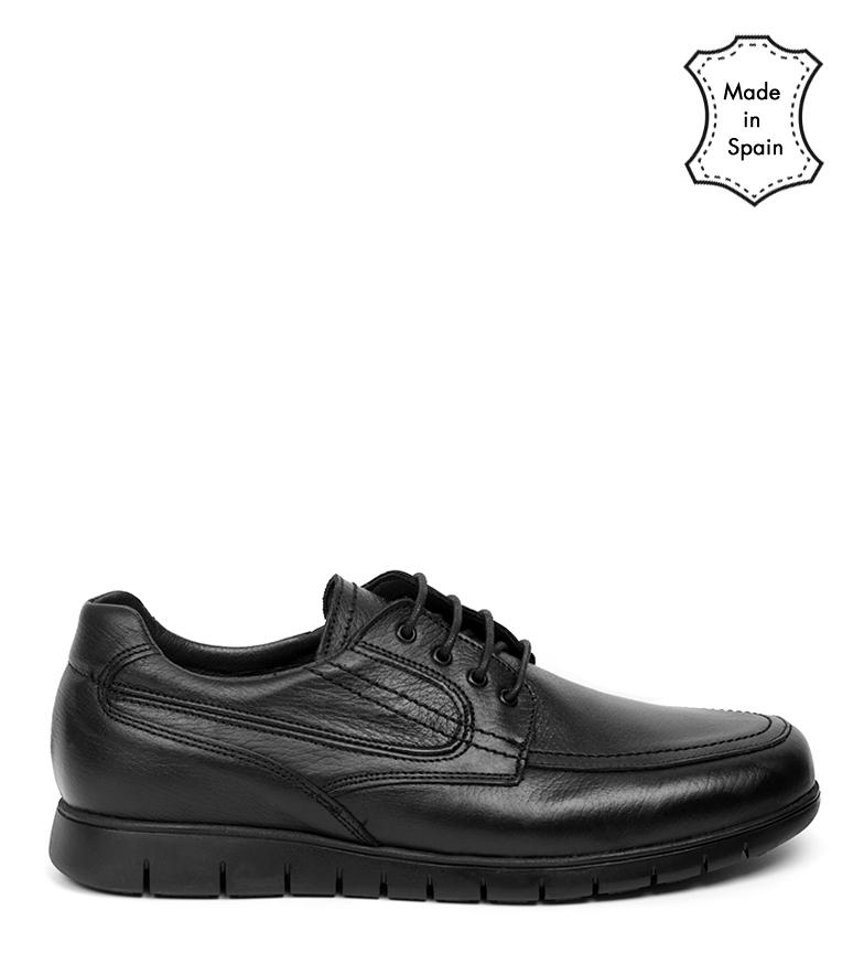 Comprar Black Barred Confort Dixon chaussures en cuir noir