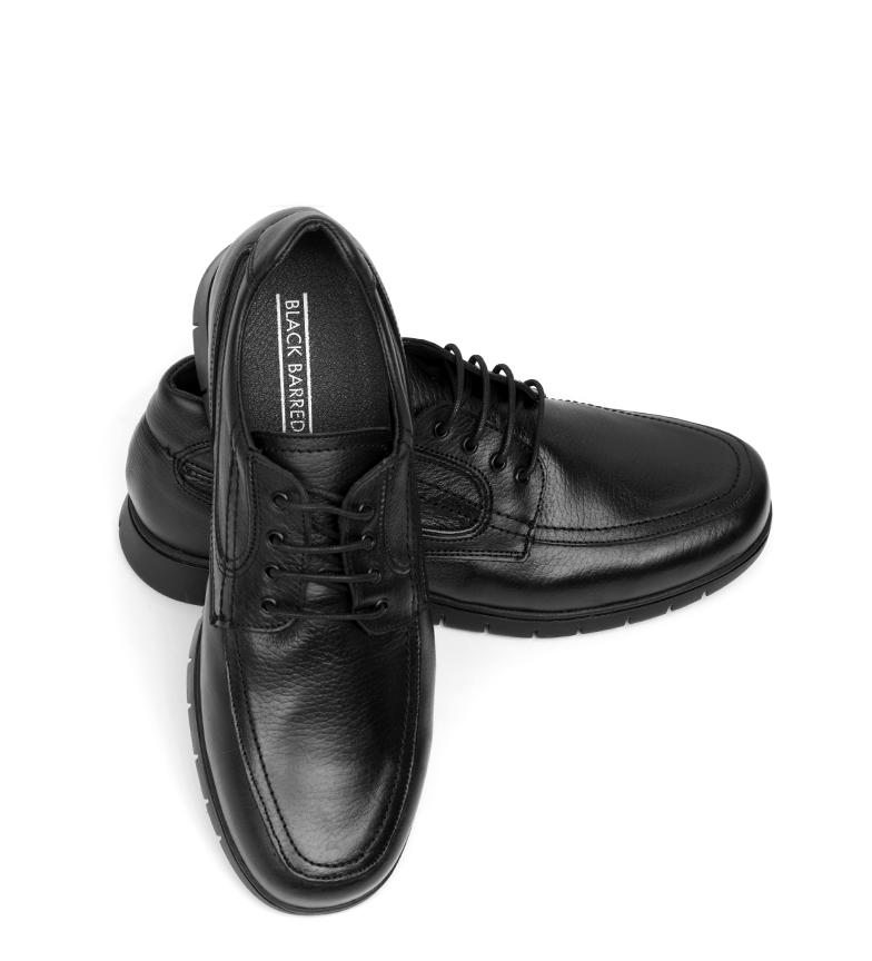Barred Piel Black Dixon De Confort Zapatos Negro WEYH9IbeD2
