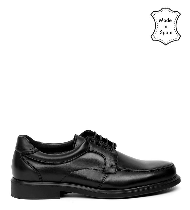 Comprar Black Barred Confort Aisha chaussures en cuir noir