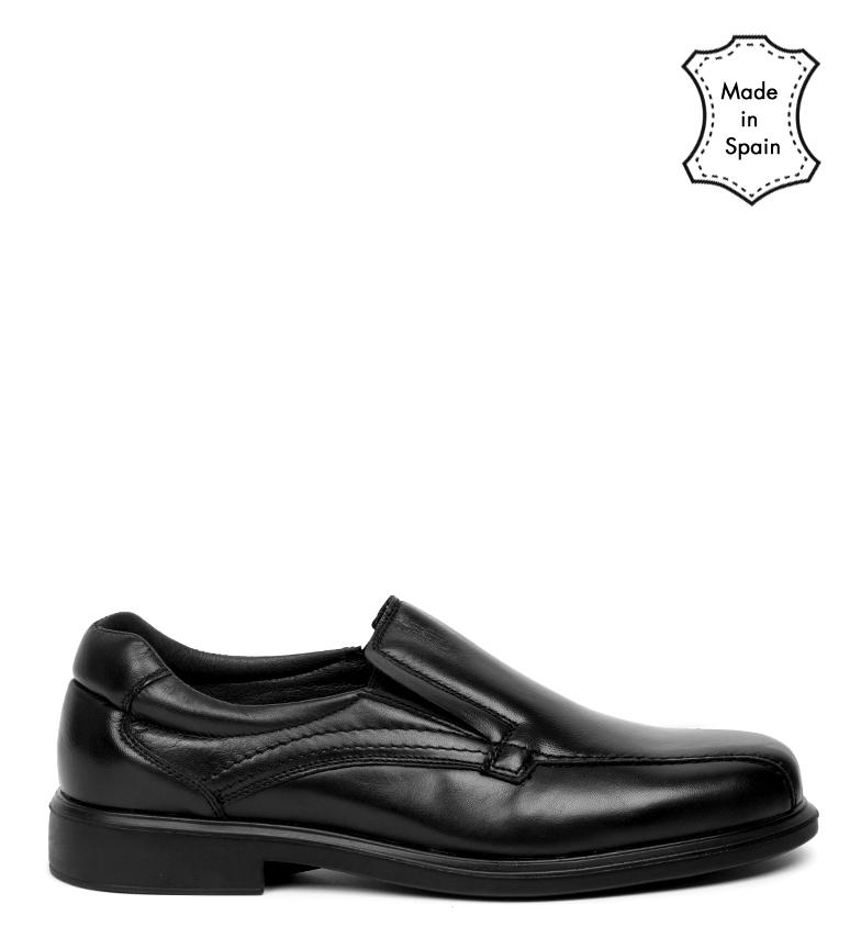 Comprar Black Barred Confort Chaussures en cuir noir Backett