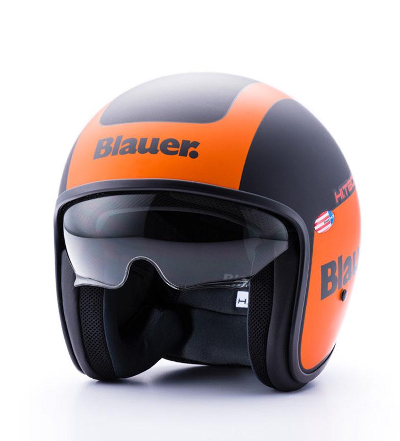 Comprar Blauer Casco jet Pilot 1.1 negro mate, naranja