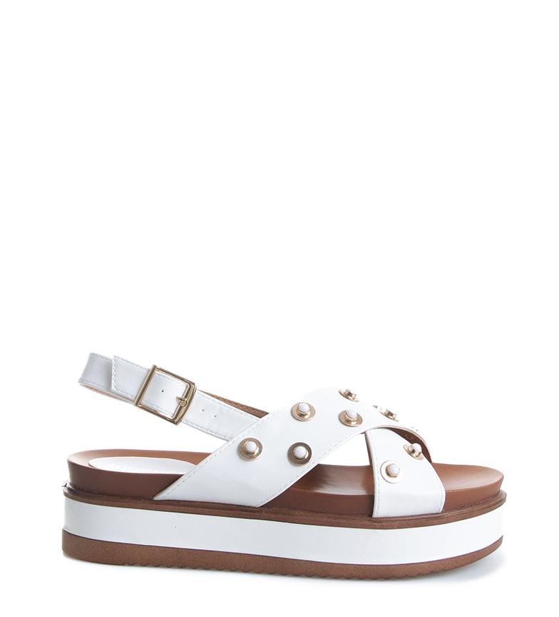 Comprar Blogger White Bali sandals - Platform height: 5cm