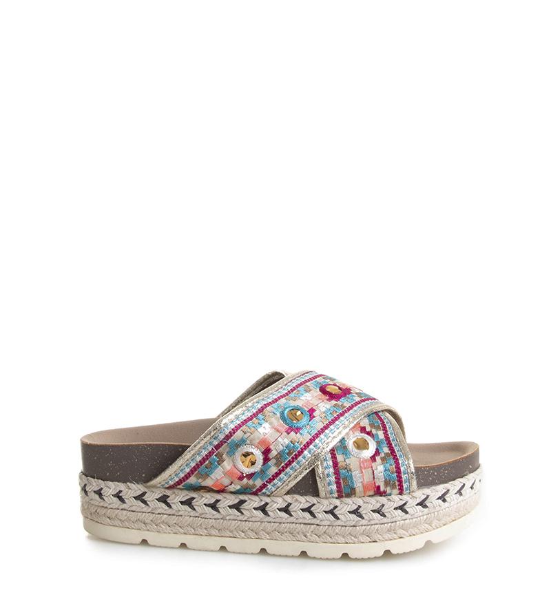 Comprar Blogger Sandali Etny multicolore - Altezza plateau: 3,5cm-