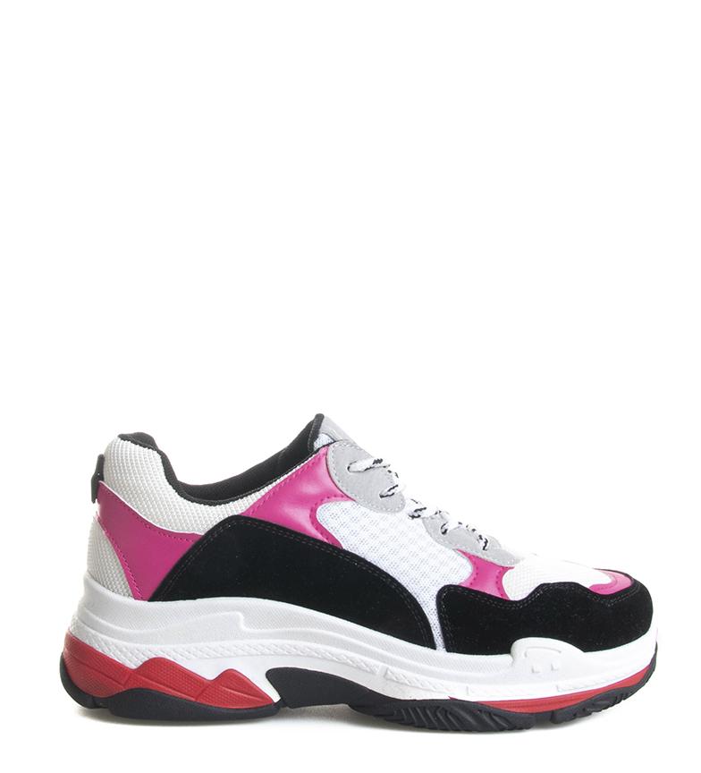 Comprar Blogger Sapatos Clar cinza, vermelho - Altura do solado: 4cm