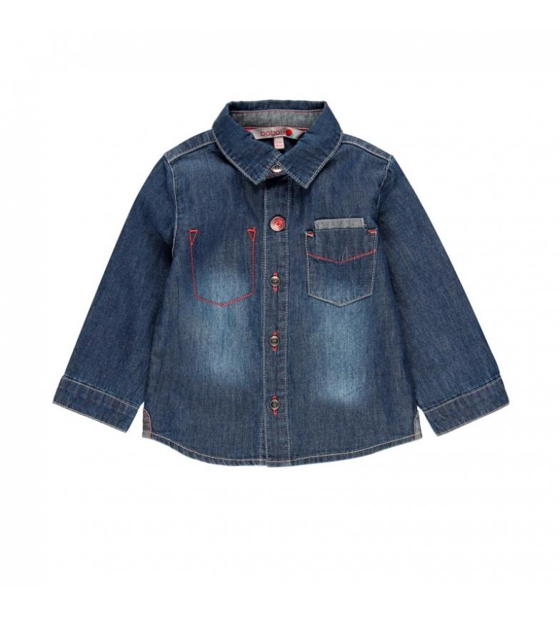 Comprar Boboli Camisa denim manga larga azul
