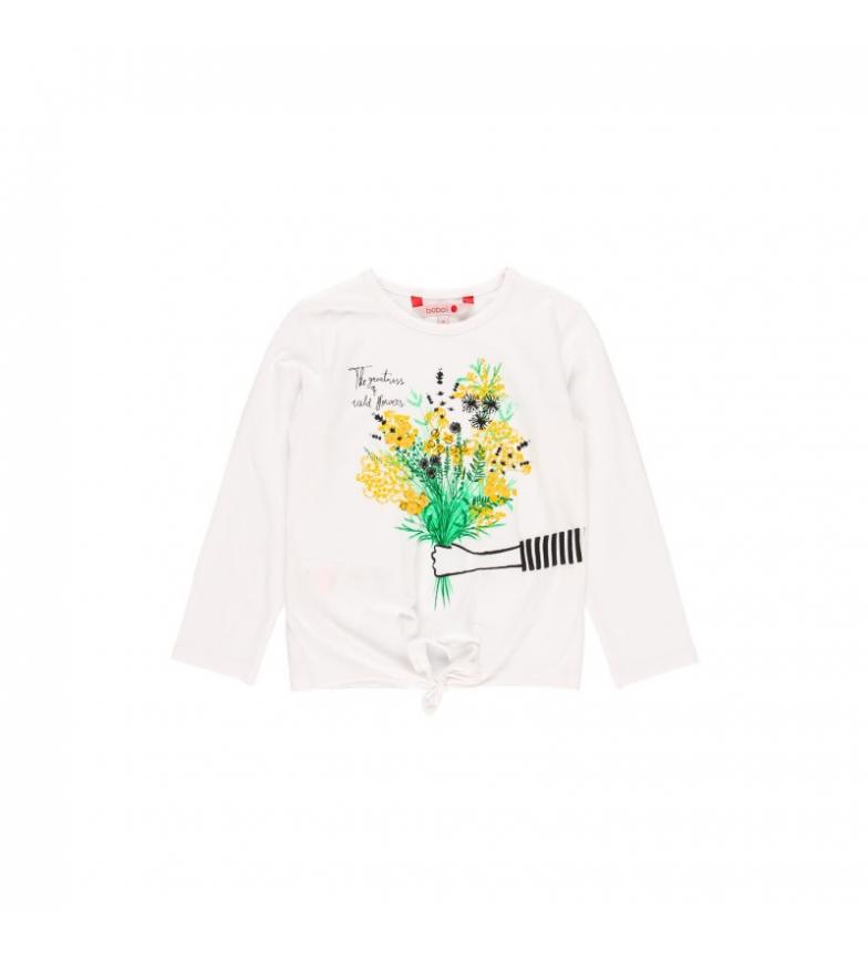 Comprar Boboli Camiseta punto elástico blanco