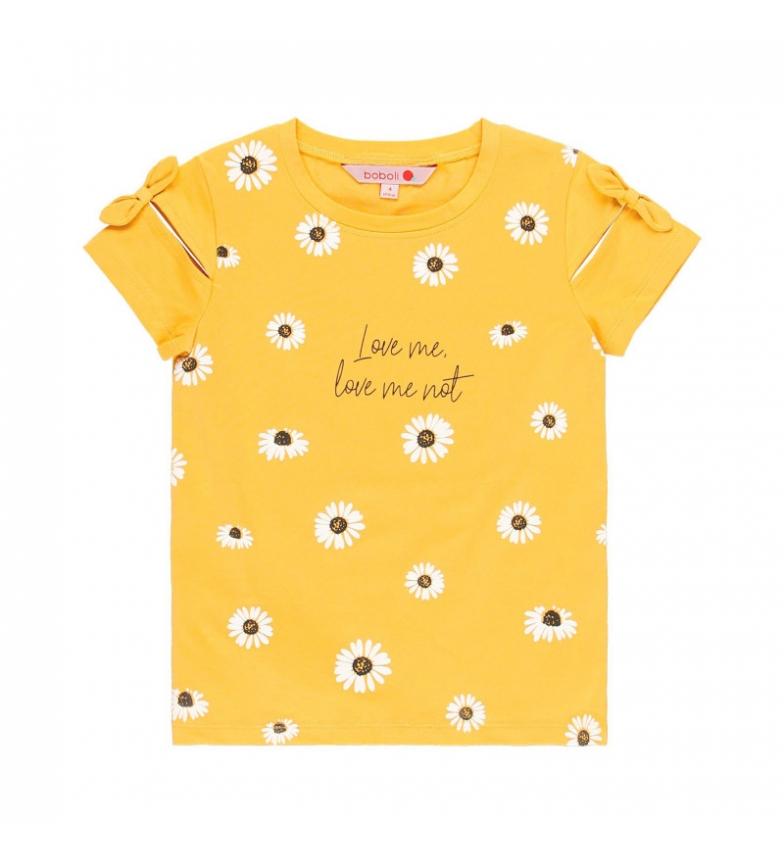 Comprar Boboli Camiseta punto elástico mostaza