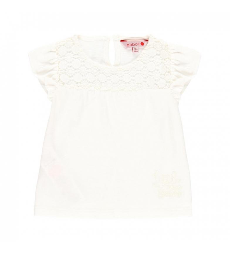 Comprar Boboli Camiseta punto flamé  blanco