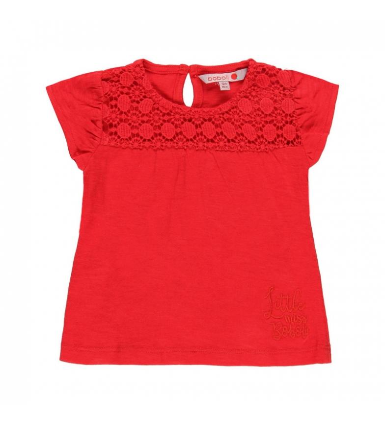 Comprar Boboli Camiseta punto flamé rojo