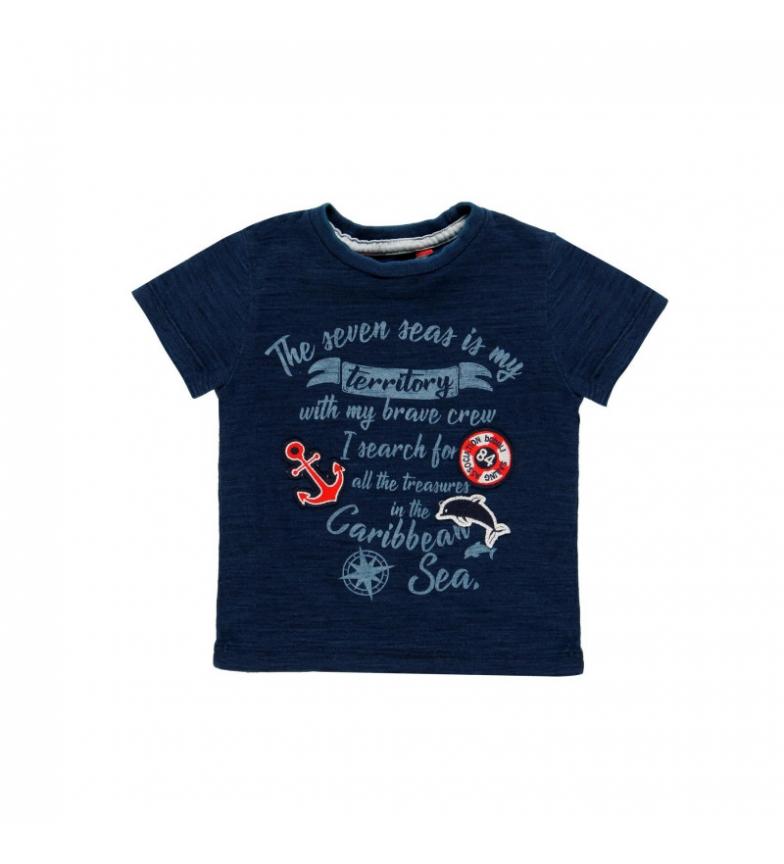 Comprar Boboli Camiseta punto flamé marino