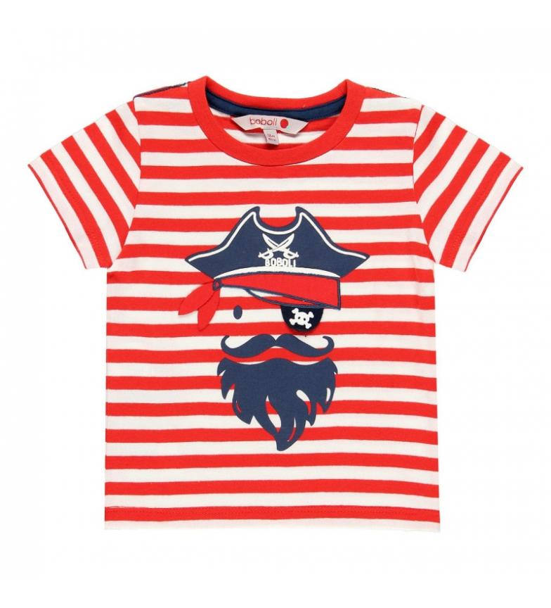 Comprar Boboli Camiseta punto liso rojo, blanco