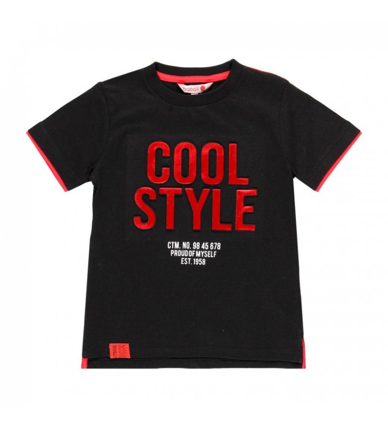 Comprar Boboli Camiseta punto liso negro