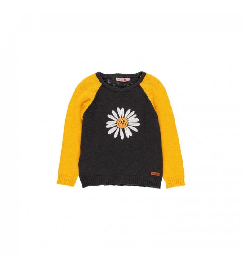 Comprar Boboli Maglione a maglia nera, giallo