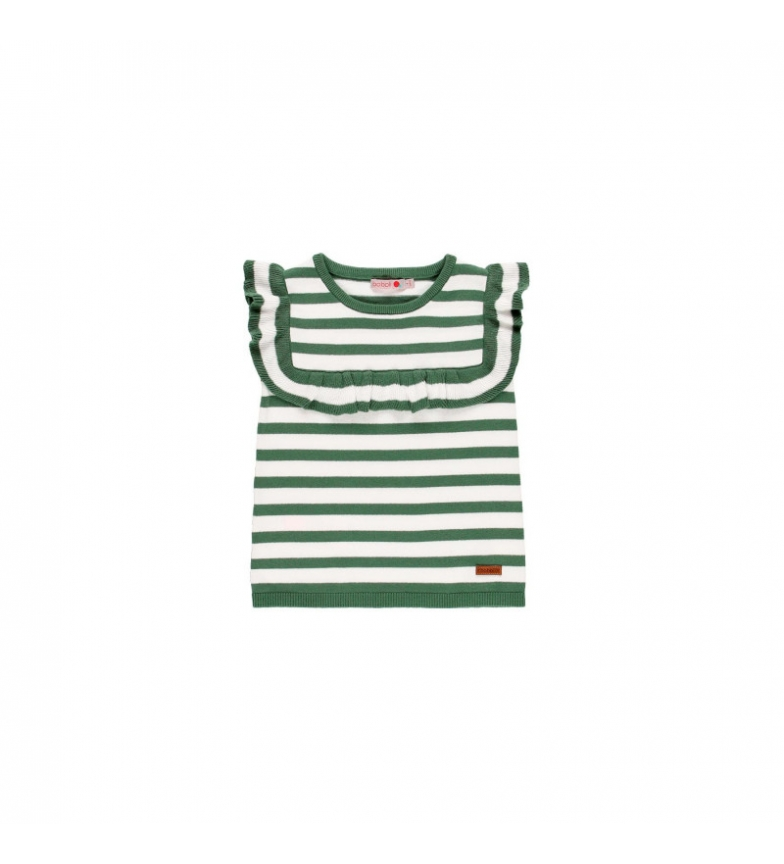 Comprar Boboli Green striped knit sweater