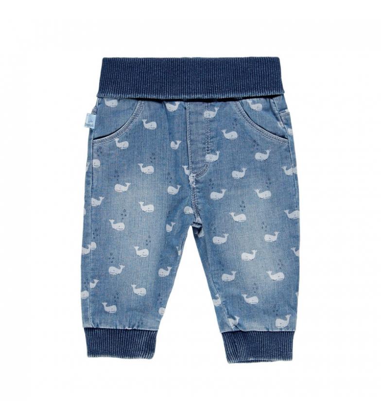 Comprar Boboli Pantaloni in denim elasticizzato blu