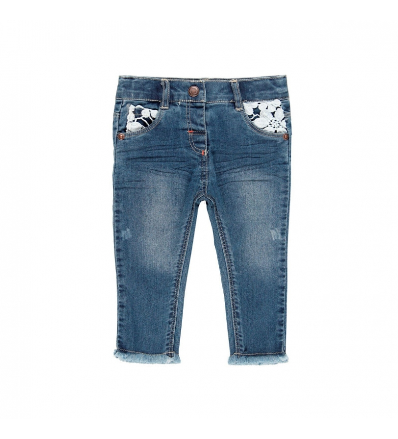Comprar Boboli Pantalón denim elástico  azul