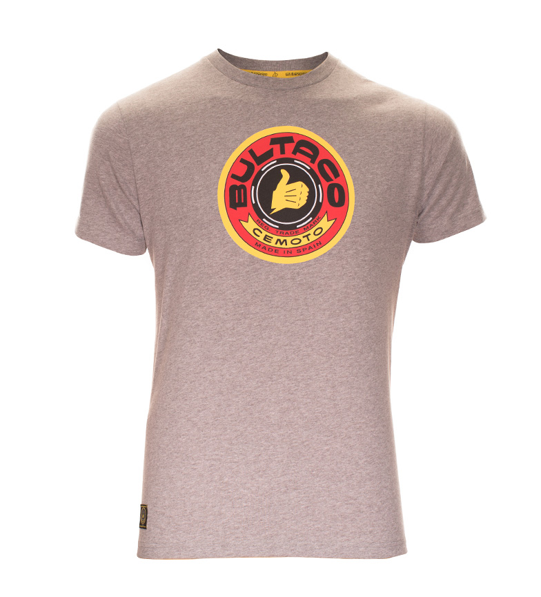 Comprar Bultaco T-shirt BT 01101001 gray heather