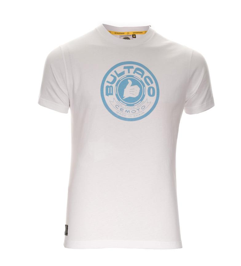 Camiseta Bultaco 01101002 Camiseta Bultaco Bt Blanco 4R53AjL