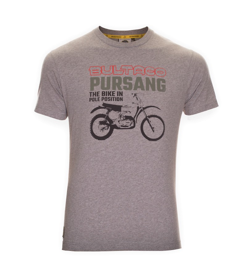 Comprar Bultaco T-shirt BT 01101005 gray mottled