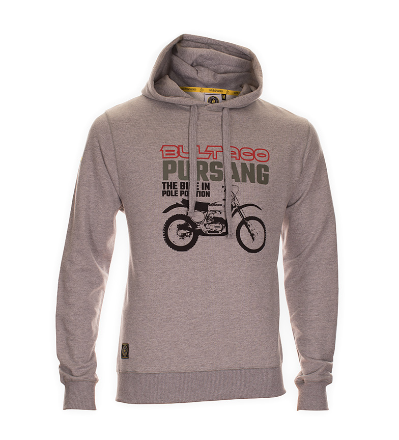 Comprar Bultaco Sweatshirt BT 01107001 gray heather
