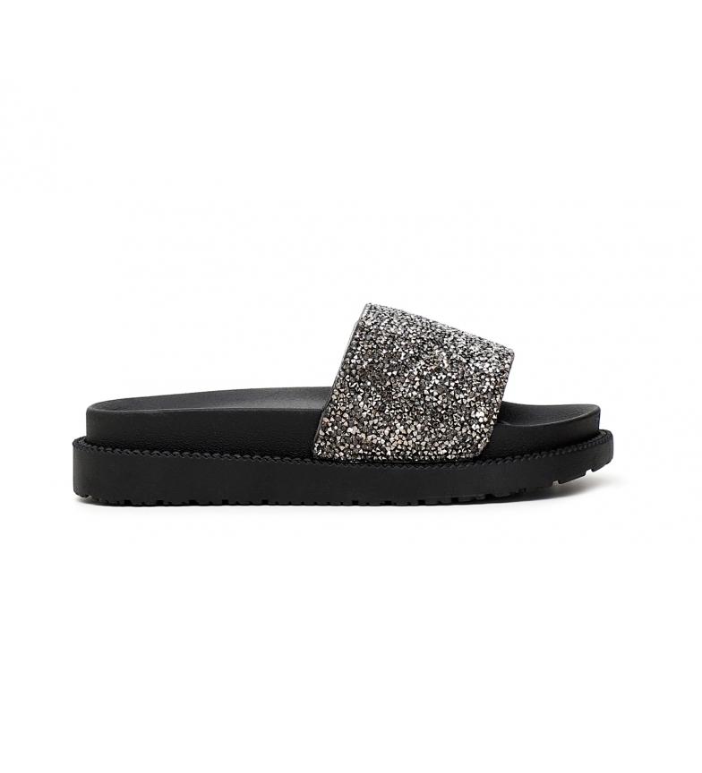 Comprar CAFÉ NOIR Sandals Flip Flops with Glitter Stripes black
