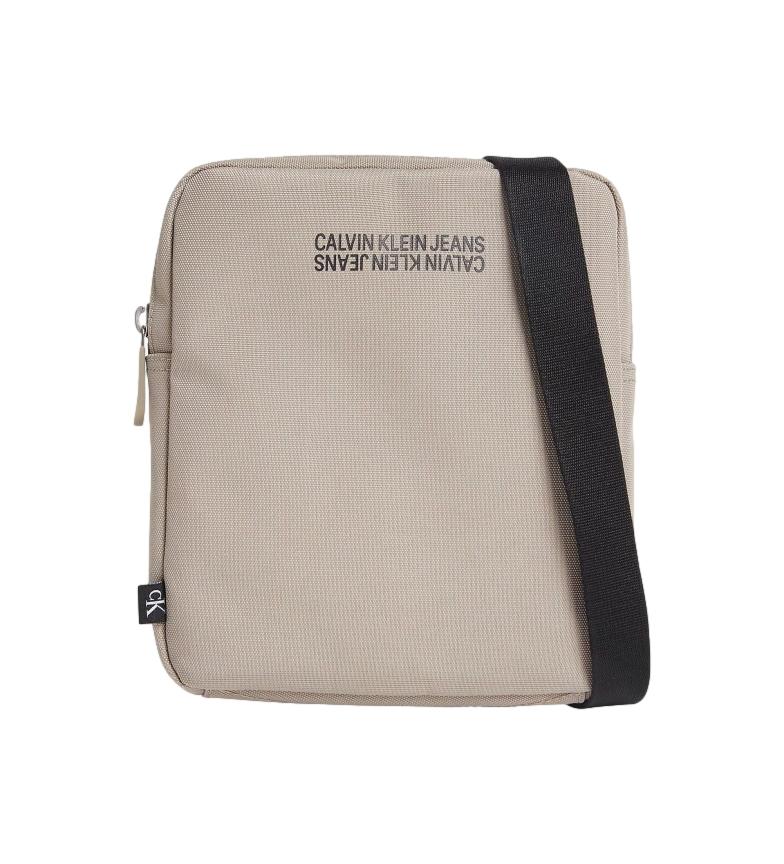 Calvin Klein Sport Essential Reporter saco de ombro bege -21x19x2,8cm