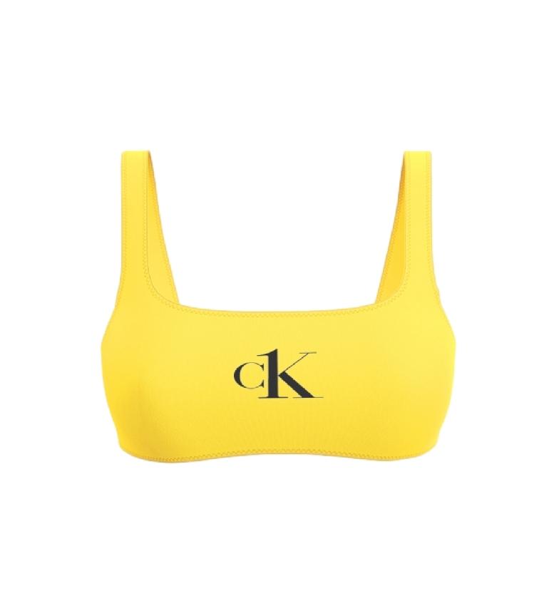 Comprar Calvin Klein Tops de Bustier Bikini Amarelo