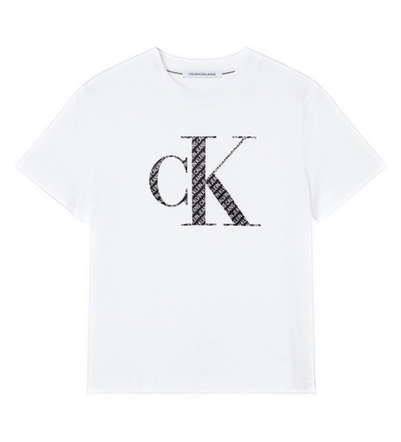 Comprar Calvin Klein T-shirt imbottita in raso bianco