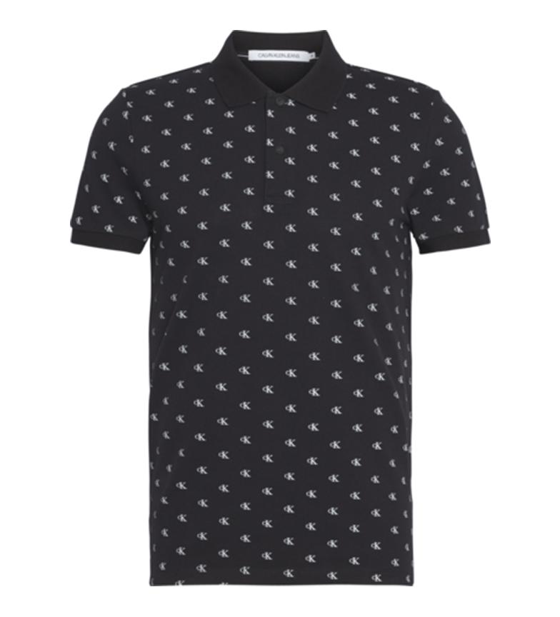 Comprar Calvin Klein Polo nera Mini Print