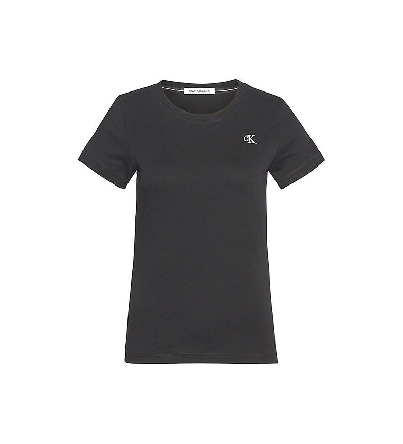 Comprar Calvin Klein Camiseta CK Slim de Algodón Ogánico negro