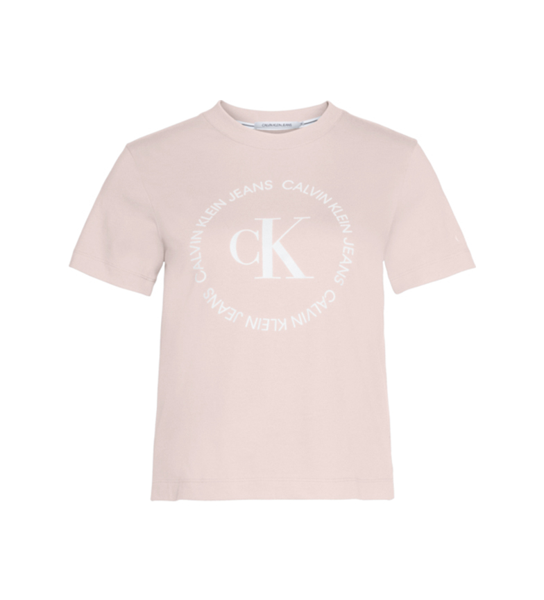 Comprar Calvin Klein T-shirt rosa con logo rotondo