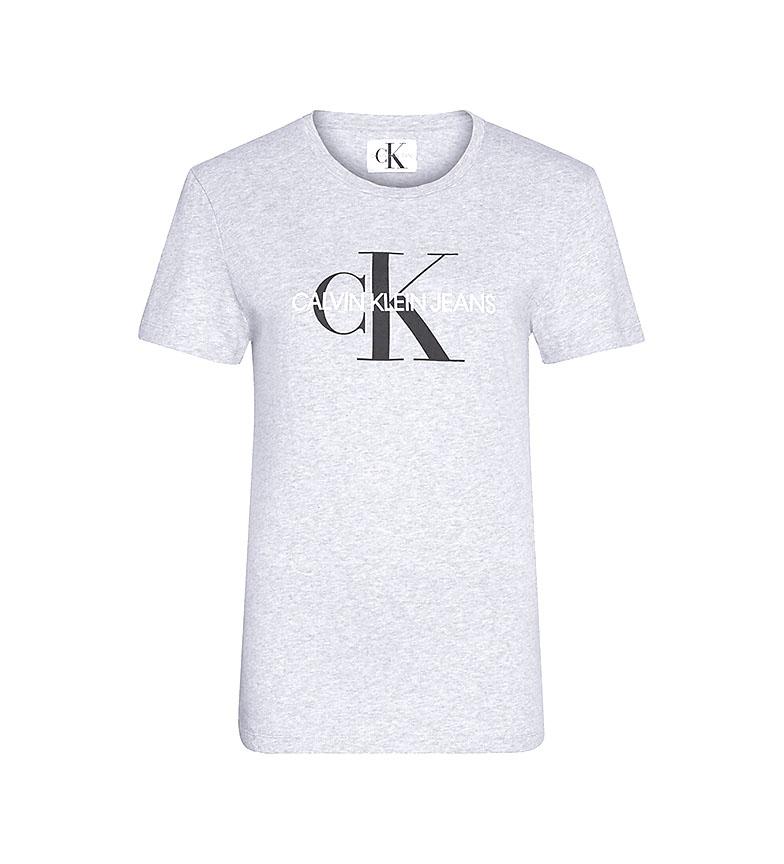 Comprar Calvin Klein Camiseta Core Monogram Logo Regular Fit gris
